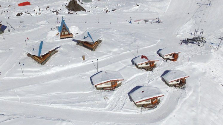 The Portillo chalets already covered on Opening Day