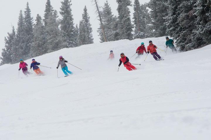 Aspen Snowmass Women's Edge ski camps, Aspen Snowmass Women's Edge women's ski clinics