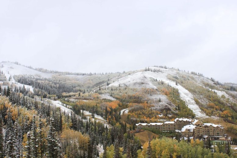 Deer Valley Resort dusted on Sept. 23 | Photo: Deer Valley Resort