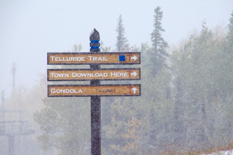 Flurries at Telluride on Sept. 23 | Photo: Telluride Ski Resort