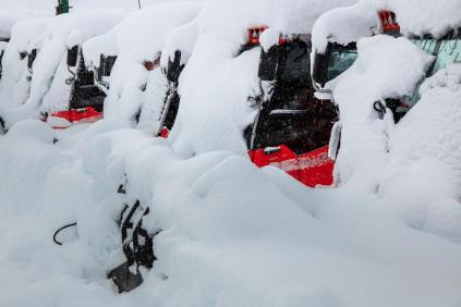 Whistler snowcats buried on Oct. 18 | Photo: Mitch Winton, Coast Mountain Photography