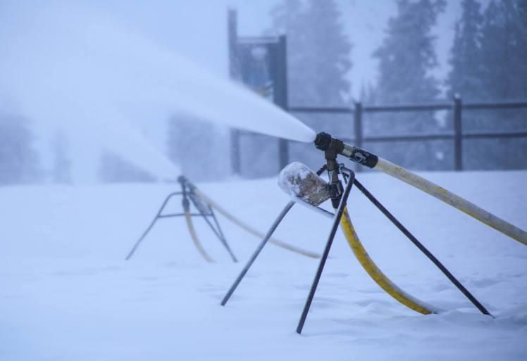 Blowing snow on Keystone's summit this week
