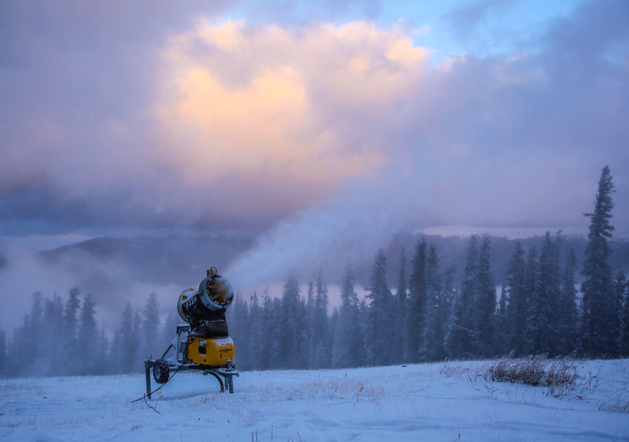 keystone snowmaking, keystone new snow, keystone opening