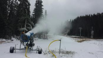 Arapahoe Basin snow making, A basin snow making