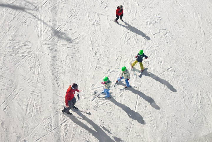 The Grizzlies program, for children ages five and six provides on-snow instruction and plenty of fun, too. | Photo: Aspen Snowmass