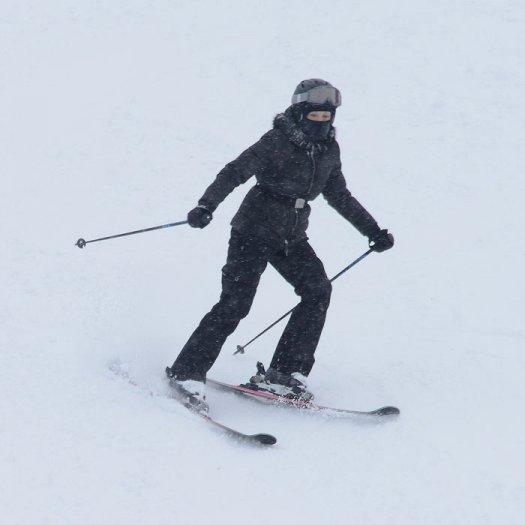 Madonna skiing