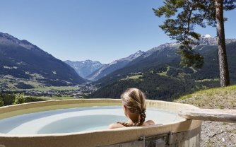 Finding solace at Bagni Vecchi spa is not hard with these mountain views. | Photo: Bagnic Vecchi Spa