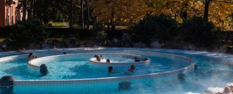 The spiral hot springs at Les Bains de Lavey. |Photo: Les Bains de Lavey Spa