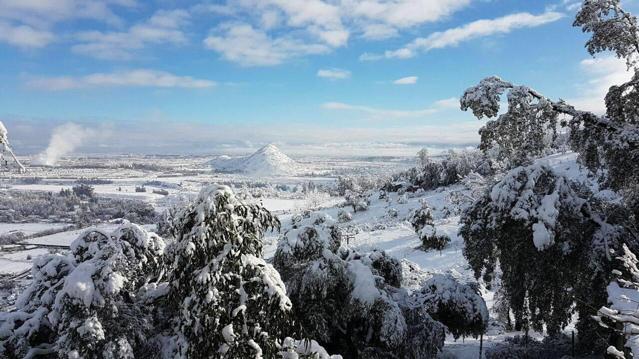 snowfall in santiago, chile