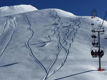 snowstorm in Valle Nevado