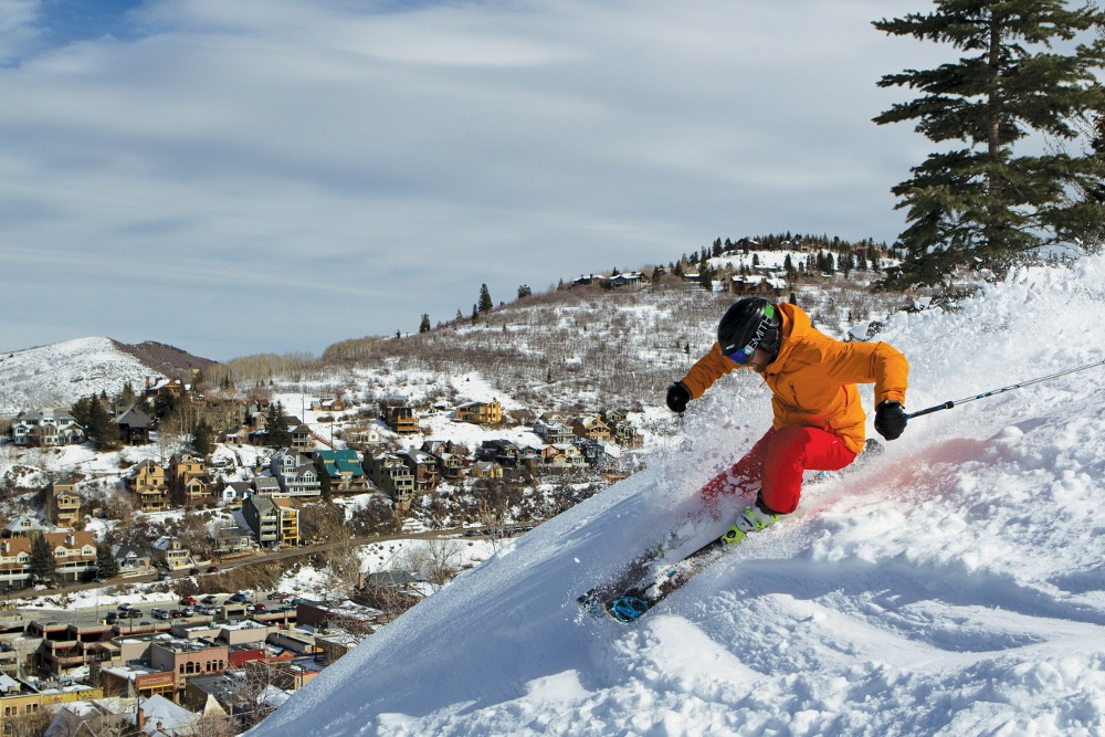 skier powder park city, park city powder guide