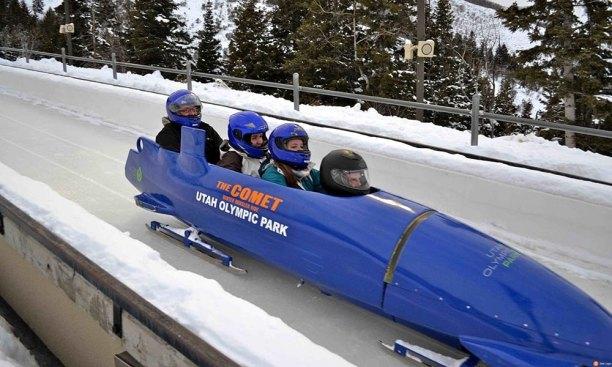 utah olympic park, park city bobsled