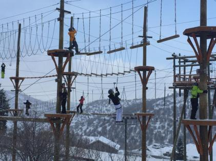 The ropes course at Utah Olympic Park is open year-round, and has varying levels of difficulty. | Photo: Utah Olympic Park