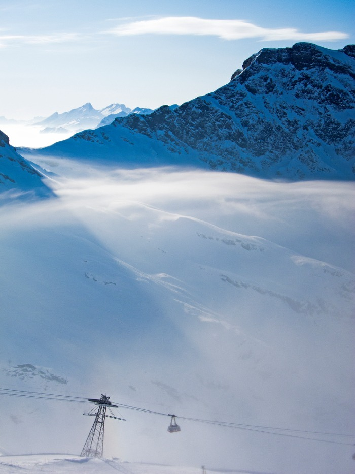 engelberg titlis, swiss ski guide, skiing in the swiss alps, rotair titlis