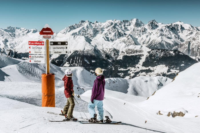 verbier, skiing in the swiss alps, skiing in verbier, verbier ski trip