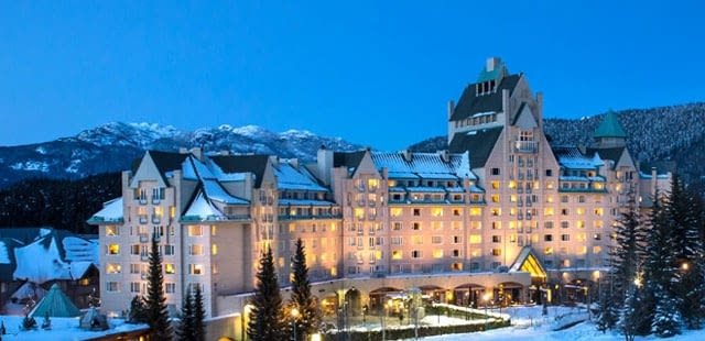 fairmonth chateau whistler, slopeside lodging in whistler
