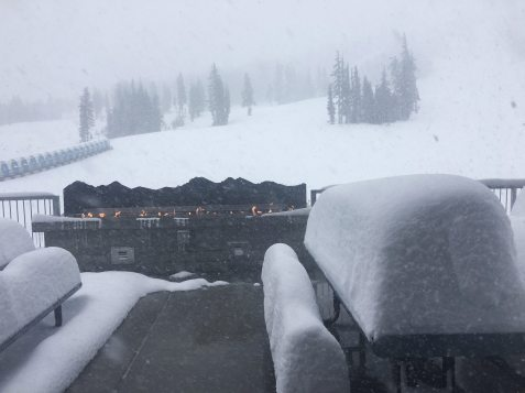 , where is it snowing, where has it snowed, mt bachelor snow