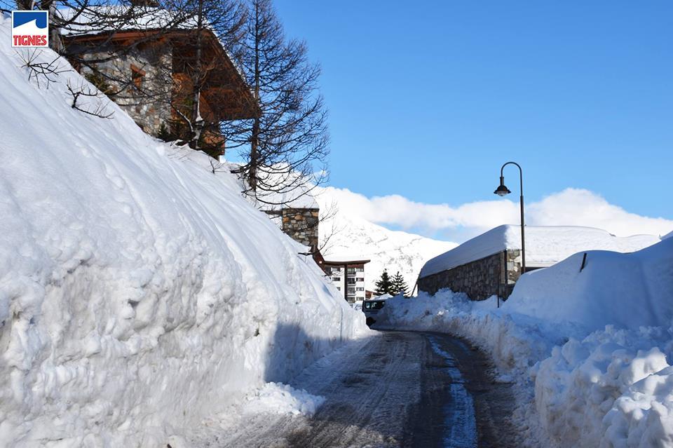alps snowfall 17/18, tignes snowfall, record breaking snow alps 17/18