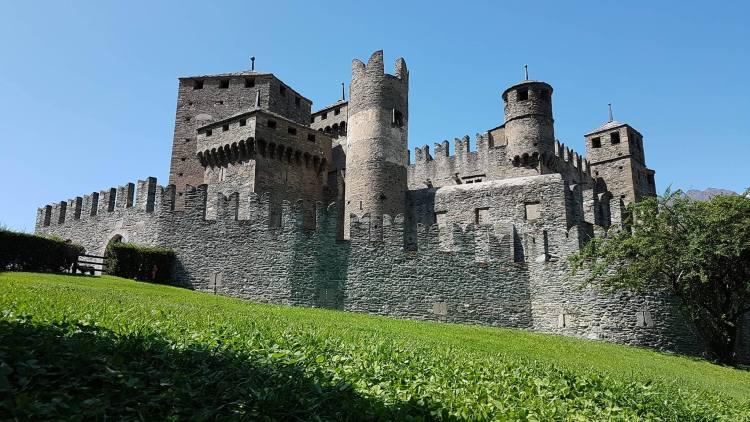 aosta castles, valley of 100 castles