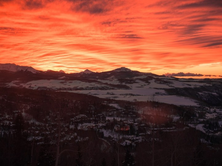 Telluride sunset, colorado ski resorts, ski trips colorado ski resorts near denver, best places to ski in colorado