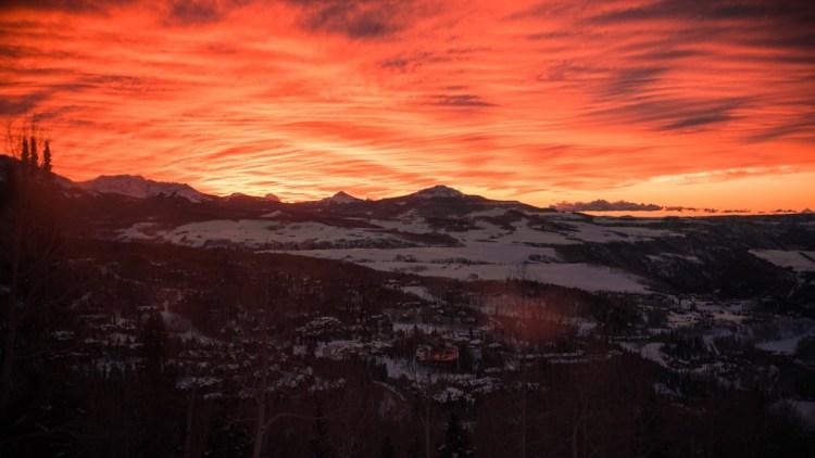 Telluride sunset, colorado ski resorts, ski trips colorado ski resorts near denver, best places to ski in colorado