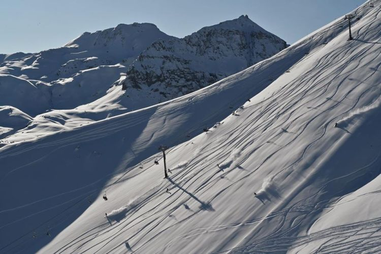Revelation bowl, telluride, colorado skiing