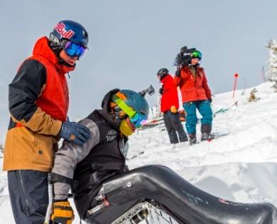Jackson Hole Sit Skier Drops Corbets