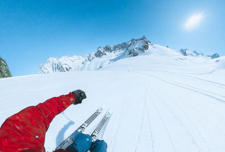 Downhill skiing in Chamonix