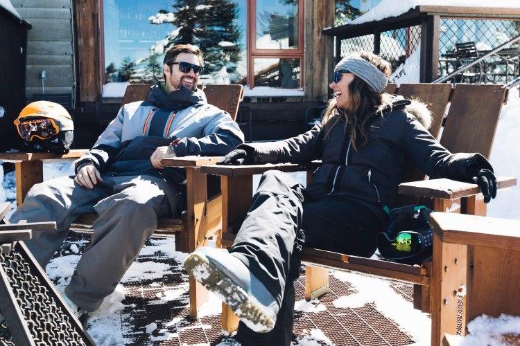 Socially distanced sundecks Northstar at Tahoe