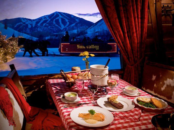 Best sleigh ride dinners ski resorts Sleigh ride dinner Sun Valley, Idaho