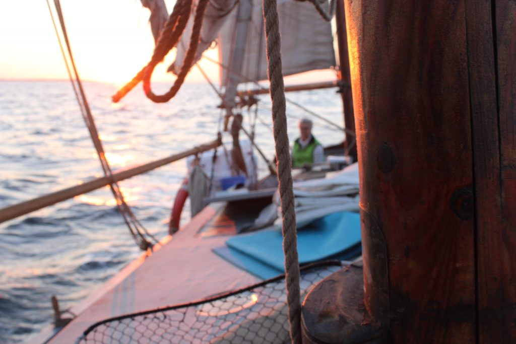 Skibet træskib båd sejlads Sommertur Fyn rundt