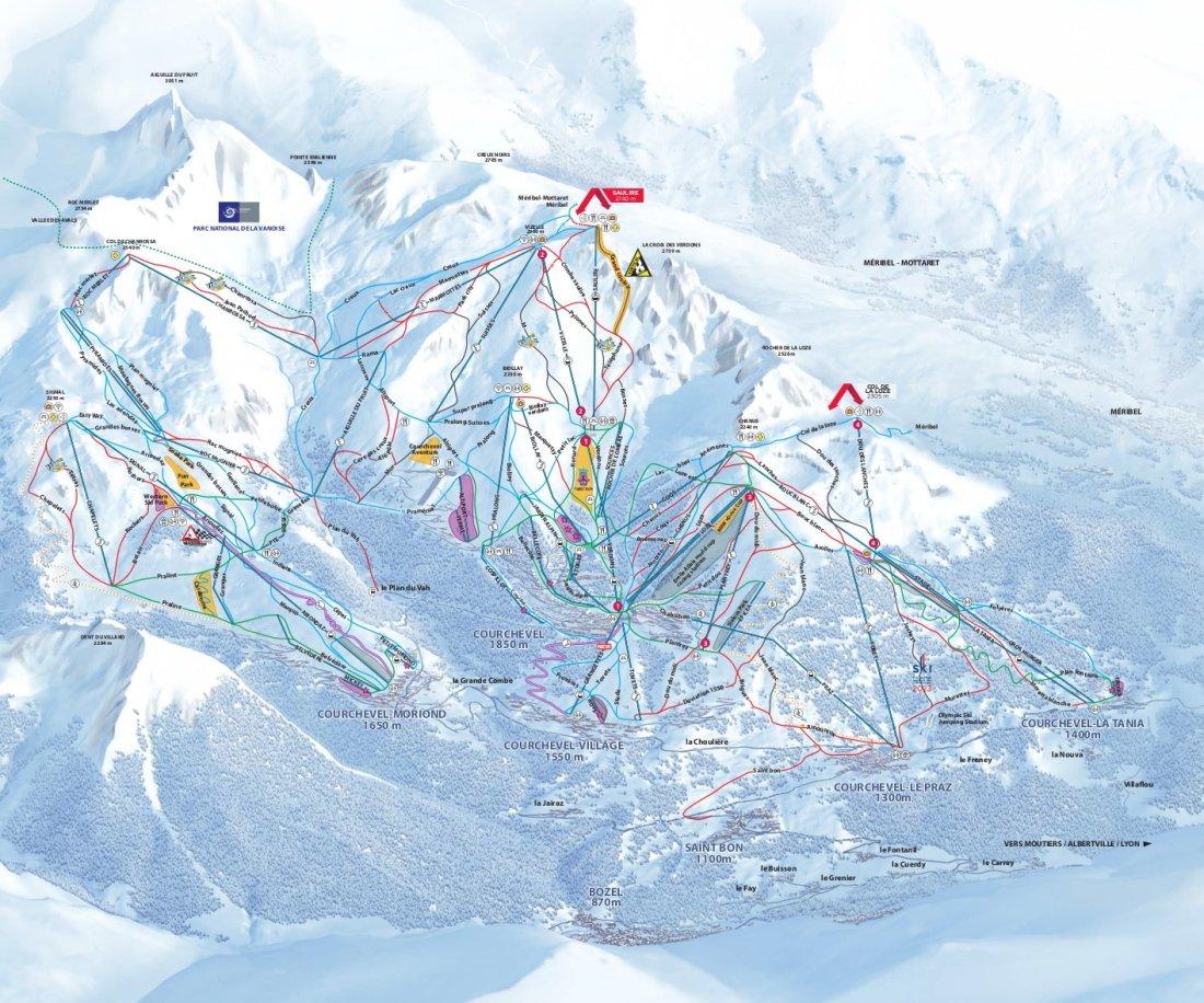 Les Tania Piste Map