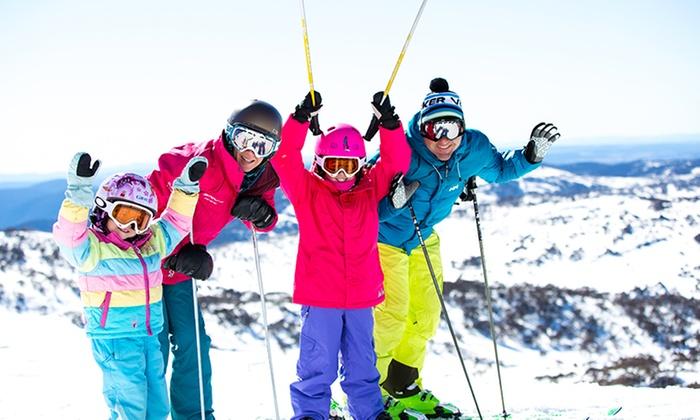 skiing at Perisher