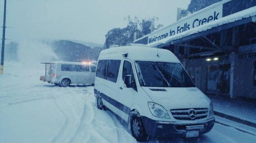 Mercedes-Sprinter falls creek transfers