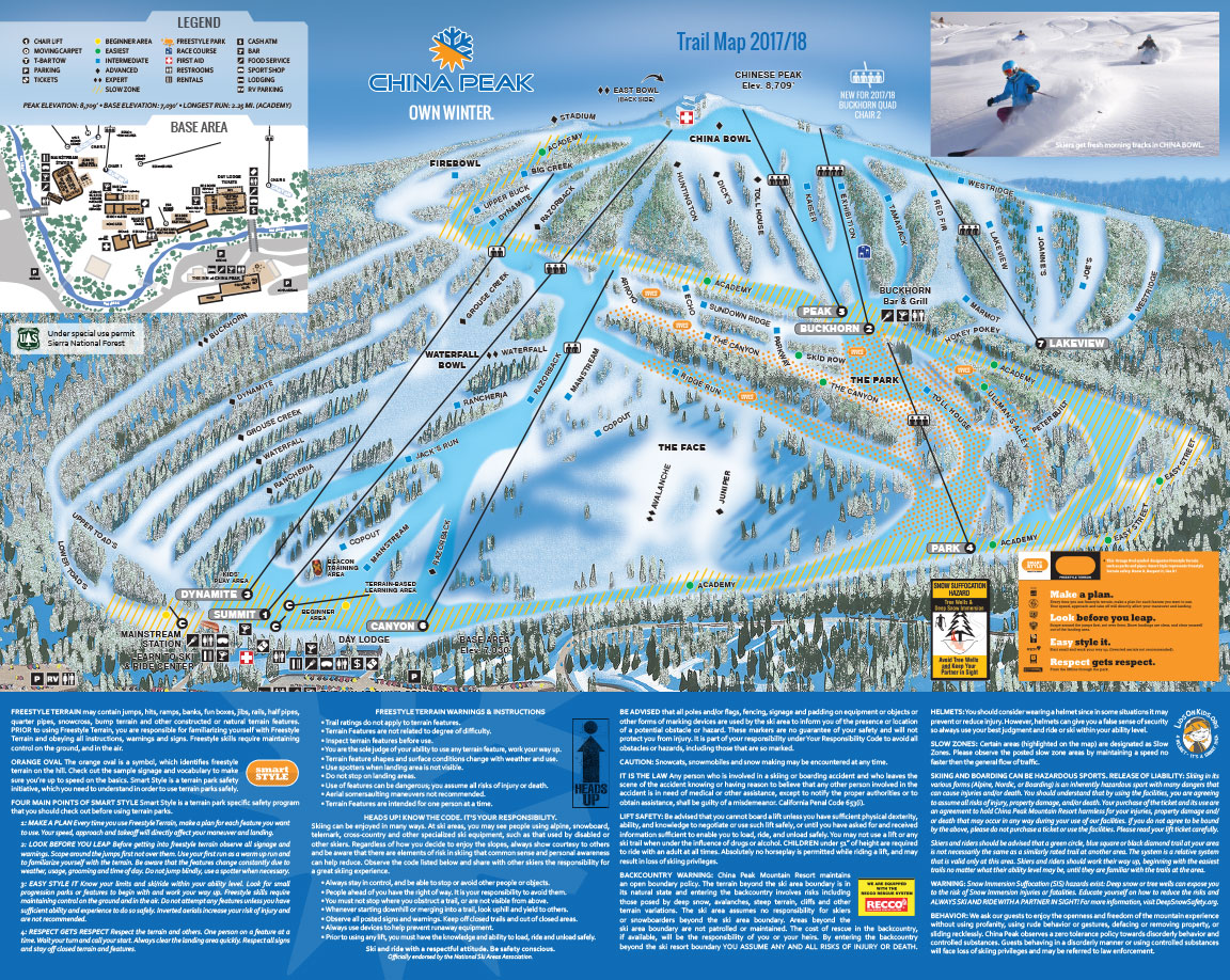 China Peak Mountain Resort  California Ski Resort