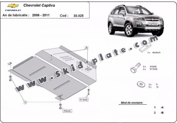 Steel skid plate for Chevrolet Captiva
