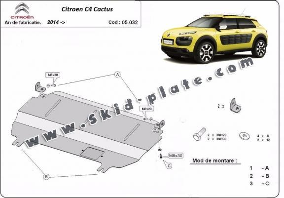Steel skid plate for Citroen C4 Cactus