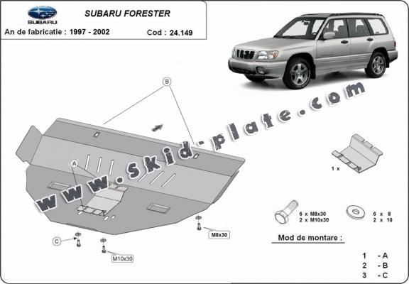Steel skid plate for Subaru Forester 1