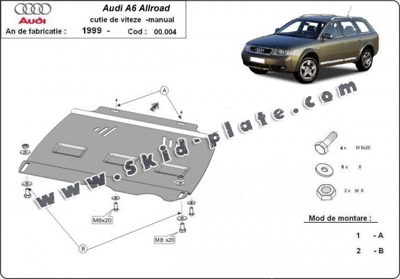 Steel manual gearbox skid plate Audi Allroad