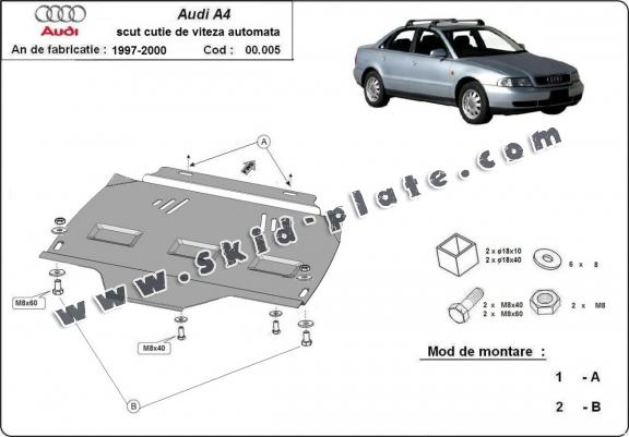 Steel automatic gearbox skid plate forAudi A4 1