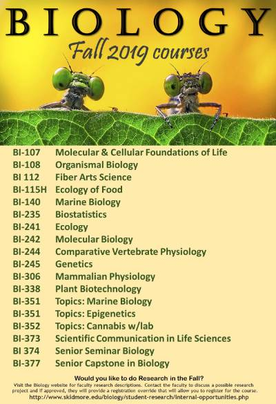 Skidmore Biology Courses