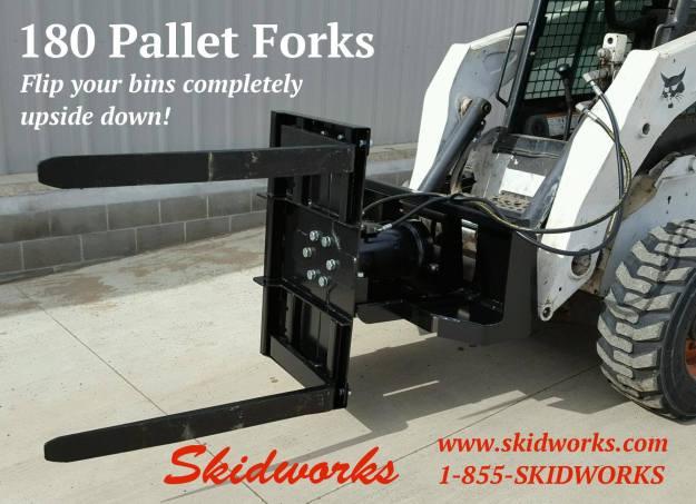 Rotating Pallet Forks, 180 Forks
