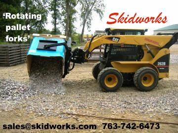 rotating pallet forks from Skidworks