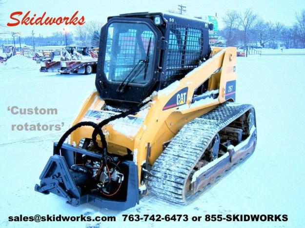 skid steer, pallet forks, rotator, demolition cleanup