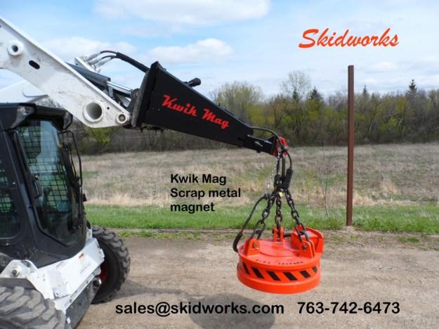 scrap magnet skid steer loader
