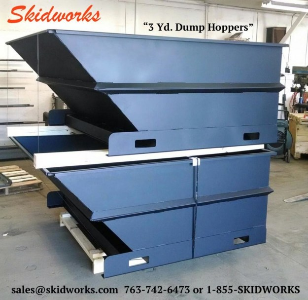 3 yard dump hoppers stacked