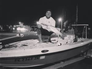 """Got this one on """"one last cast"""" to end the night on light tackle. Great night wi…"""