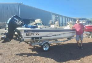 Congratulations to Mike Filosa on the purchase of his 2017 Carolina Skiff 16 JVX…