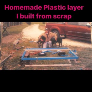 Plastic layer I built from scrap metal for a friend (rip)for his John Deere … …