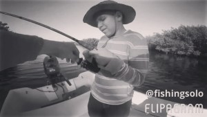 a little bit of my nephew admir catching his first snook              …